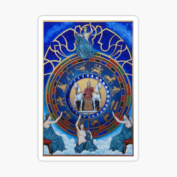 Ananke & the Fates by Stuart Littlejohn Sticker