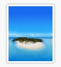 Bacardi Island in Samana Bay, Dominican republic Sticker