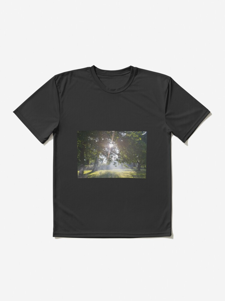 Alternate view of M.I. #11 |☼| Smoky Tree Sun Rays - Landscape Shot (Pearson Park) Active T-Shirt