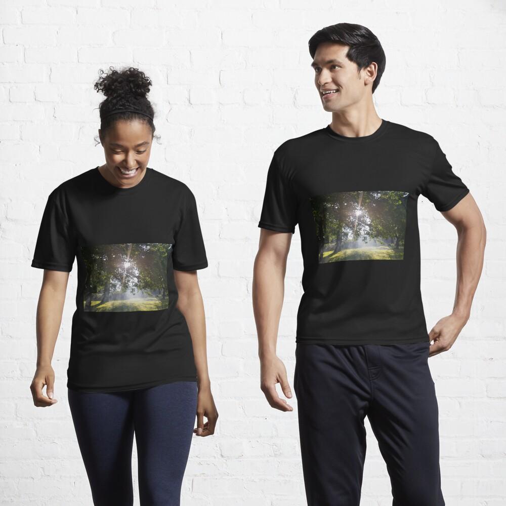 M.I. #11 |☼| Smoky Tree Sun Rays - Landscape Shot (Pearson Park) Active T-Shirt