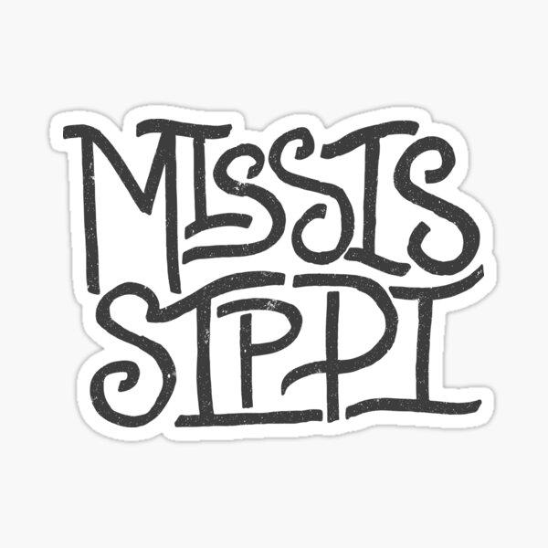 Mississippi Lettering Sticker