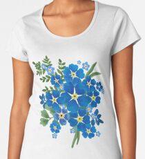 Vergiss mich nicht Bouquet ich Premium Rundhals-Shirt