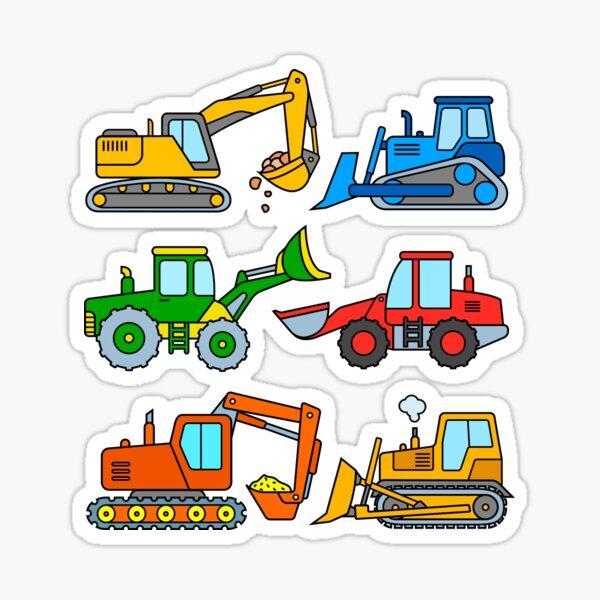Construction machinery and excavators Sticker
