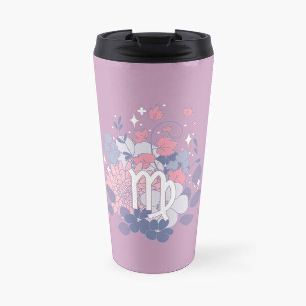 Virgo Flowers - PURPLE Travel Mug