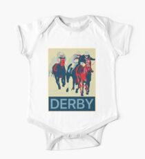 Kentucky Derby Baby Body Kurzarm