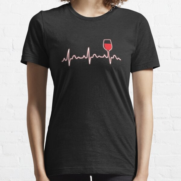 Heartbeat wine gift Essential T-Shirt