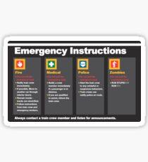 Pegatina Instrucciones de emergencia del metro