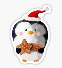 Pegatina Cute Christmas Penguin