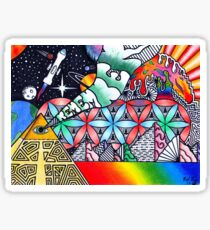 Pyramids of Dimethyltryptamine (DMT) Sticker