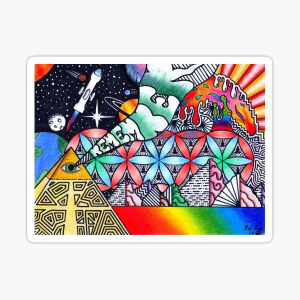 Pyramids of Dimethyltryptamine (DMT) Sticker