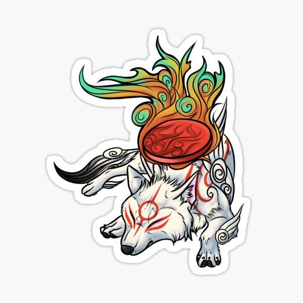 Okami - Amaterasu Rests Sticker