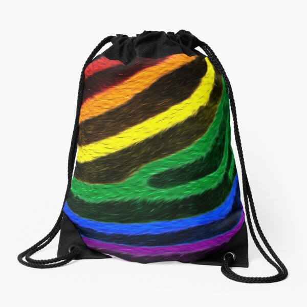 Zebra Pride Drawstring Bag