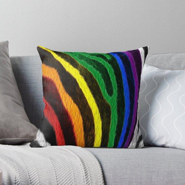Zebra Pride Throw Pillow