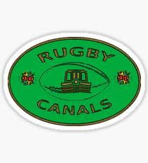 rugby canals plaque bywhacky Sticker