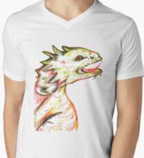 Little Green Dragon Men's V-Neck T-Shirt