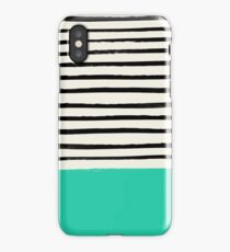 Mint x Stripes iPhone Case