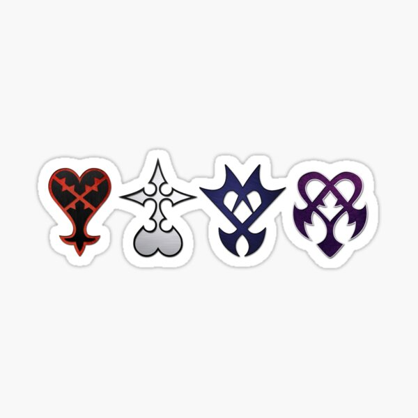 All Kingdom Hearts Enemies Unite (Without Quote) Sticker