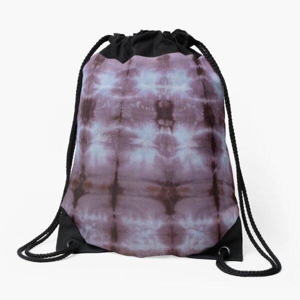 SKU349 Shibori Style Chocolate 1 Drawstring Bag