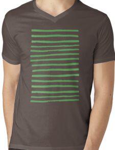 Simple Stripes - Fern Mens V-Neck T-Shirt