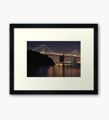 SF Bay Bridge Purple Edition Framed Print