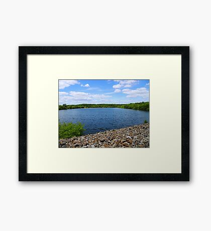 The rockiest roads can lead to paradise Framed Print
