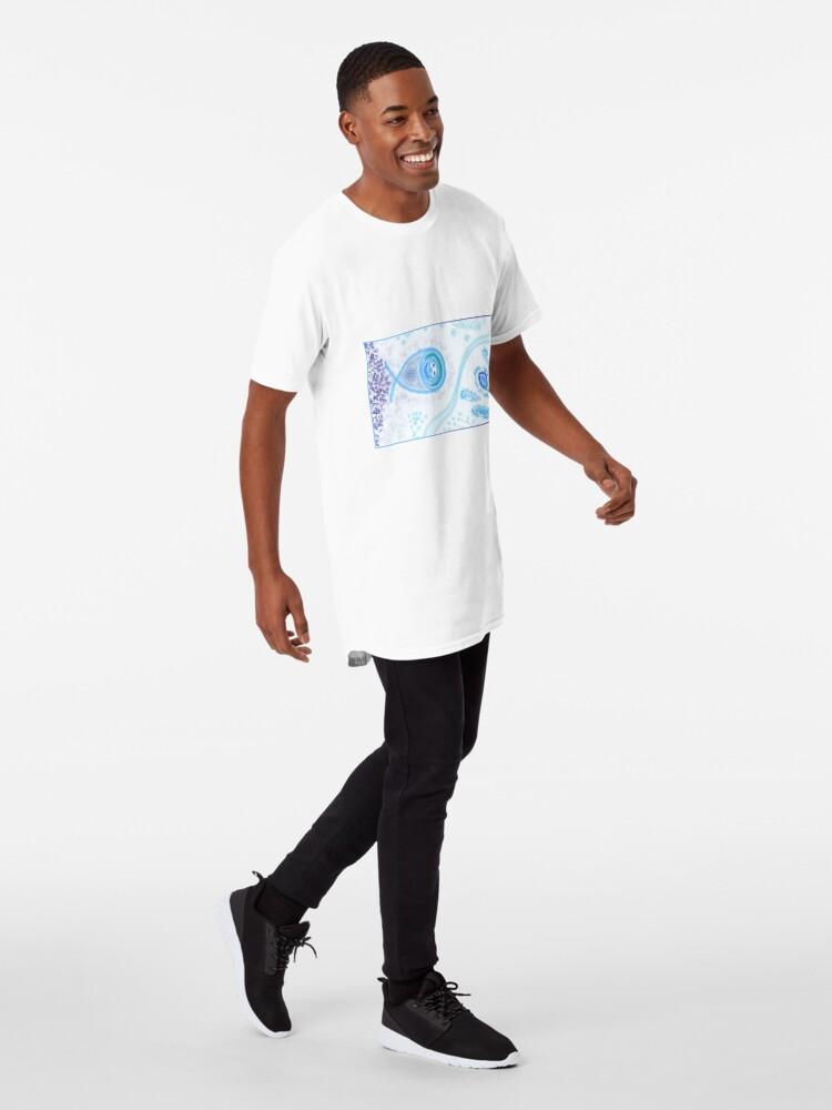 Alternate view of Merch #2 -- Aquatic Splatter Splash Long T-Shirt