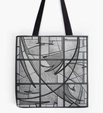Charcoal Cartoon 4 a Stained Glass Skylight Tote Bag