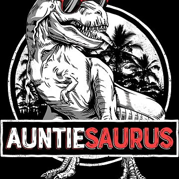 Auntiesaurus T shirt T rex Tante Saurus Dinosaurier Frauen Tante von LiqueGifts