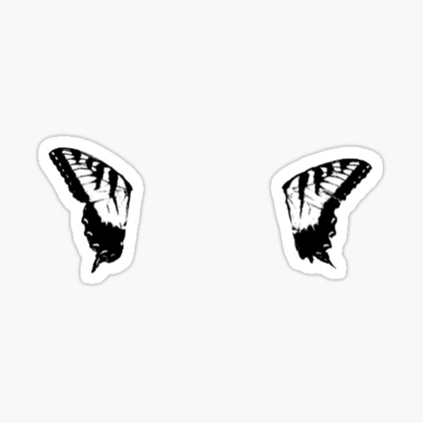 paramore butterfly (2 pieces) Sticker