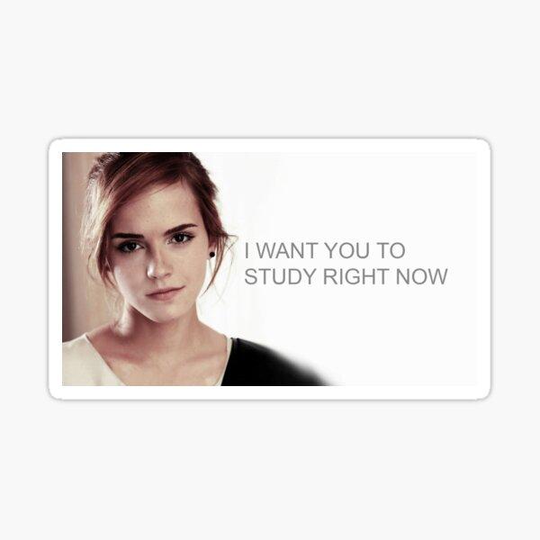 Emma Watson Étude Sticker
