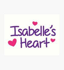 ISABELLE'S HEART FOUNDATION  Art Print