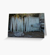 the imperfect white picket fence. Greeting Card