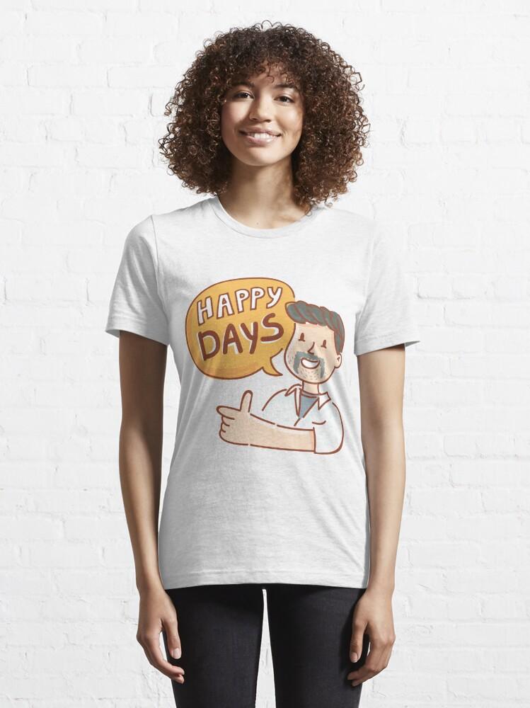 Alternate view of Happy Days by AussiEmoji™ Australia Essential T-Shirt