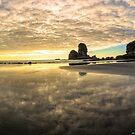 Vor Sonnenuntergang Motukiekie Beach Pano in der Küste von Greymouth Westküste von Neuseeland Von @Olena Art. No. von OLena  Art ❣️