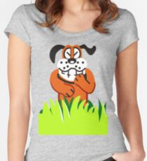 Duck Hunt game loser Women's Fitted Scoop T-Shirt