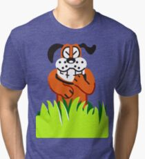 Duck Hunt game loser Tri-blend T-Shirt
