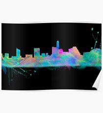 Austin Skyline in Digital Watercolor Poster