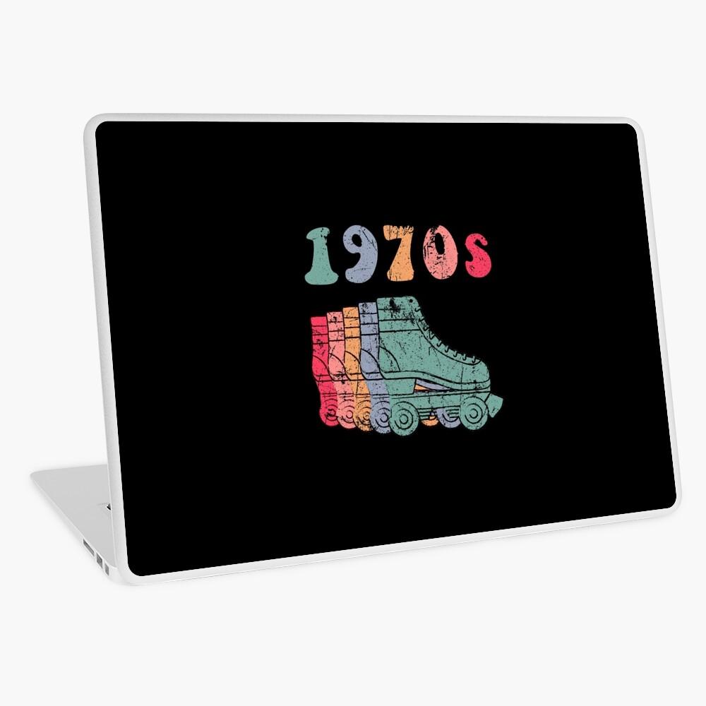 70er Jahre Rollschuhe Disco Derby Retro Laptop Folie