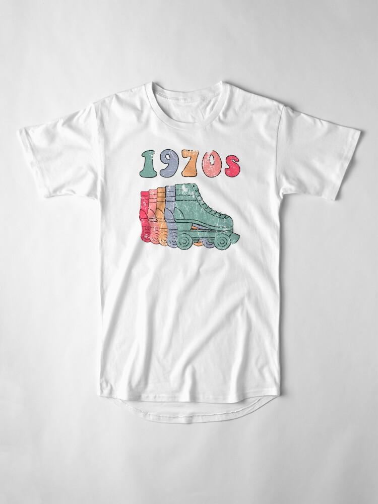 Alternative Ansicht von 70er Jahre Rollschuhe Disco Derby Retro Longshirt