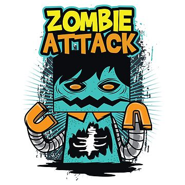 A Unique Detailed Zombie Tee For Yourself? Here's An Awesome T-shirt Saying Zombie Attack Design by Customdesign200