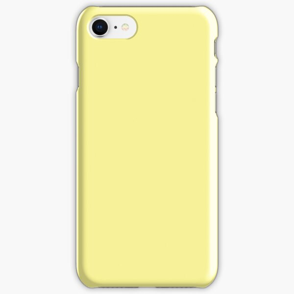 Pastel Yellow Solid Colour iPhone Snap Case