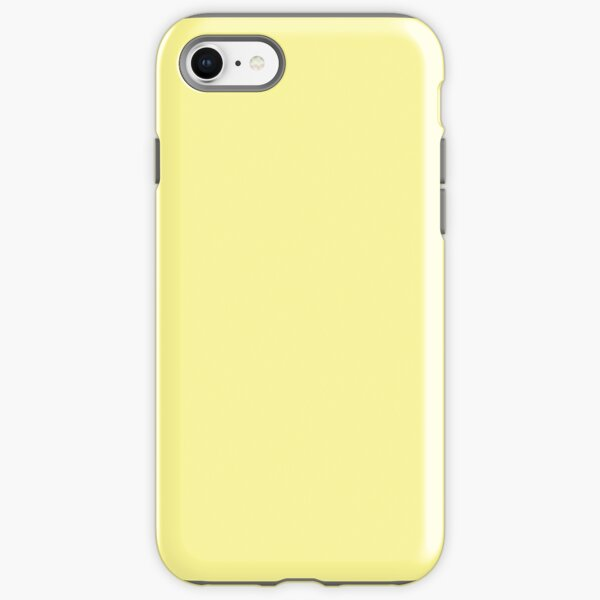 Pastel Yellow Solid Colour iPhone Tough Case