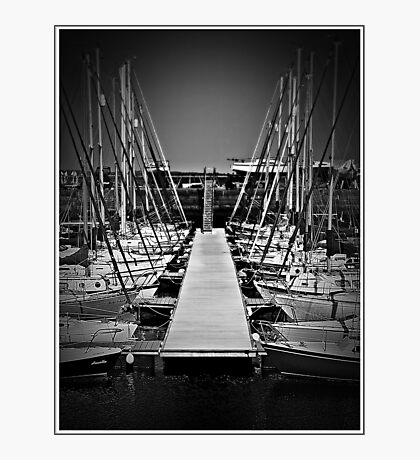 Sailboats In Tayport Harbour,Scotland Photographic Print