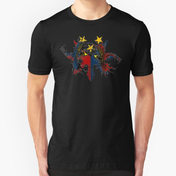 Cock Fight Flag Slim Fit T-Shirt