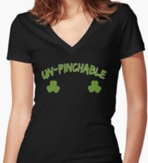 Un-Pinchable T Shirt Women's Fitted V-Neck T-Shirt