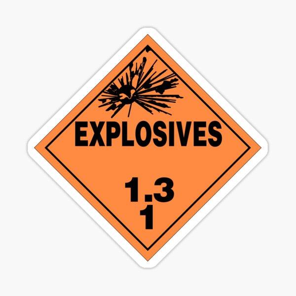 HAZMAT HAZARD EXPLOSIVES - STICKER Sticker