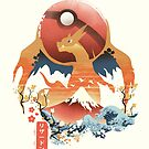 Pokiyo-e Feuermonster von Dan Elijah Fajardo