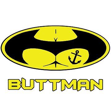 Buttman with Sailor Anchor  Tatoo by dezing