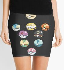 Eeveelution Pokeballs Mini Skirt