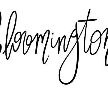 Escritura a mano de Bloomington de shelbiefran